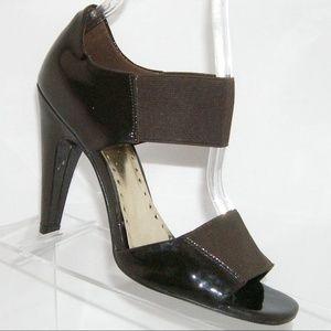 BCBG 'Kreolex' brown patent leather heels 5.5B